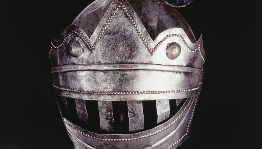 Help your child dress up like a knight for Halloween.