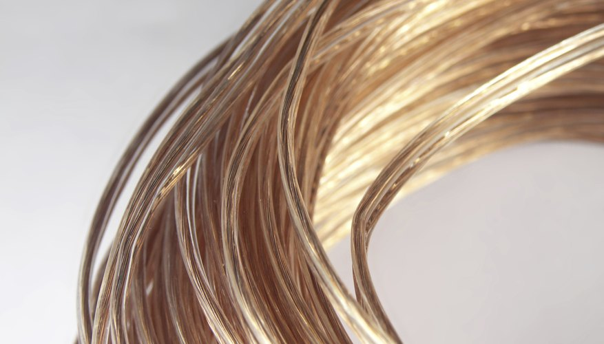 A spool of copper wire.