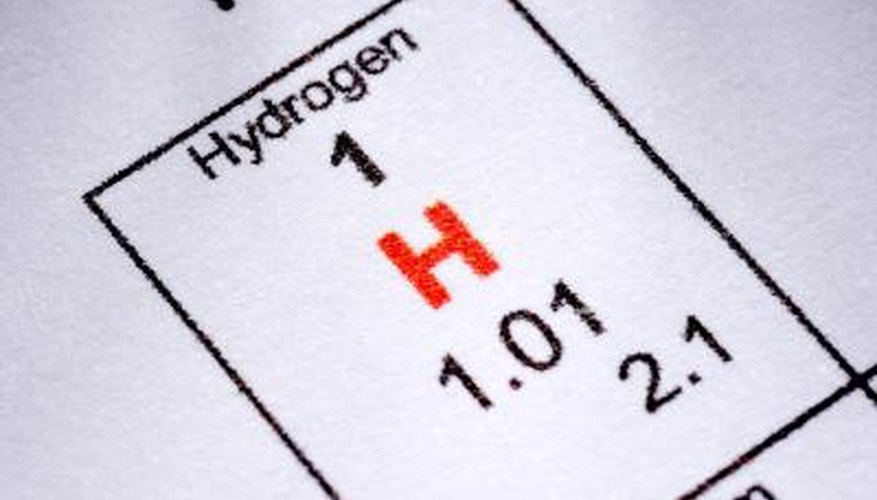 Hydrogen is the lightest element.