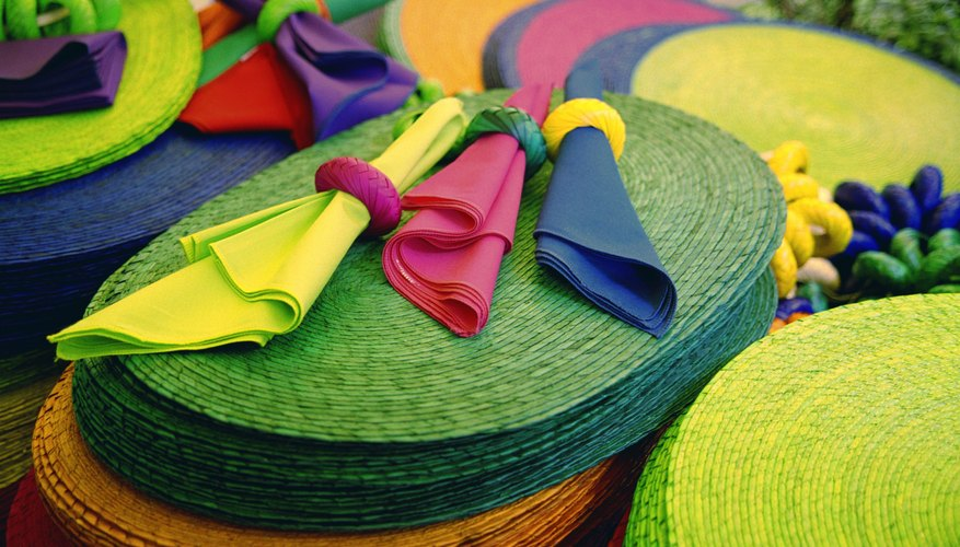 Homemade napkin rings are made from new or recycled materials.