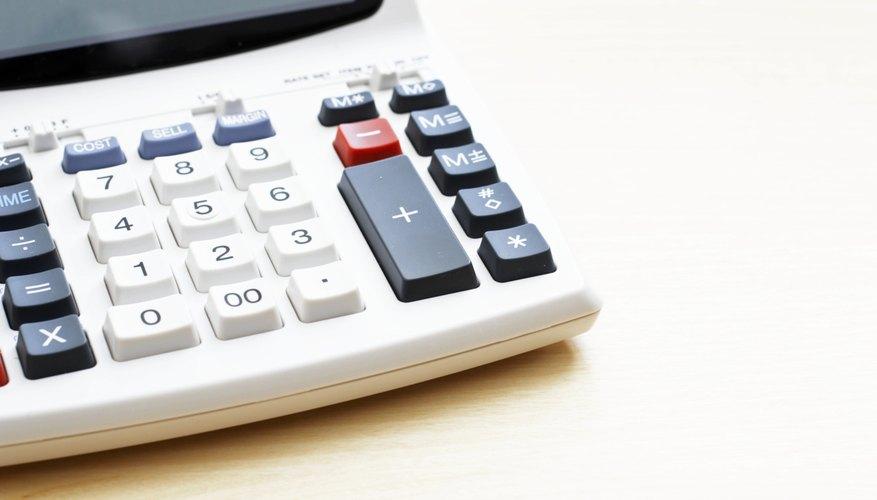 Close-up of calculator.