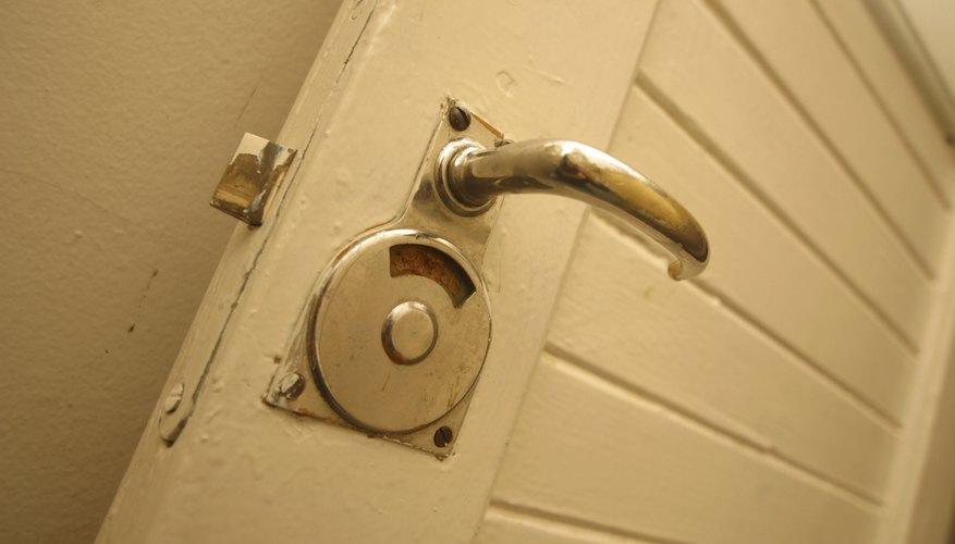 Locked bathroom.