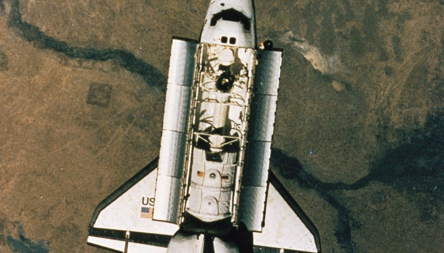 The space shuttle used aerodynamic lift to achieve an accurate landing trajectory.