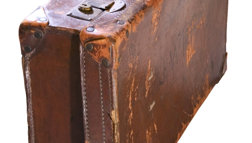 Some antique leather suitcases can be quite valuable.