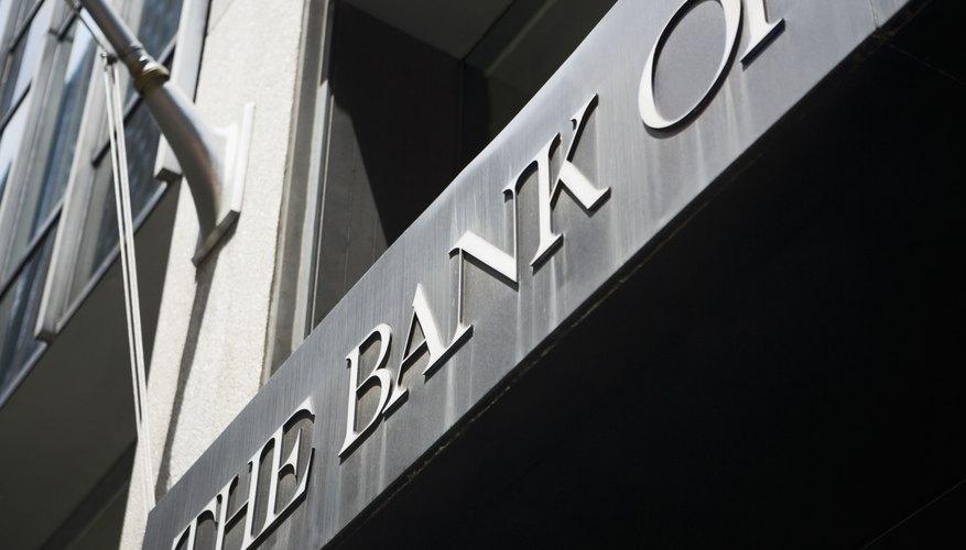 Bank exterior.