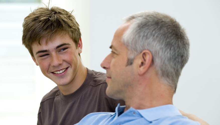A teen's relationship to his father is important for his self esteem.