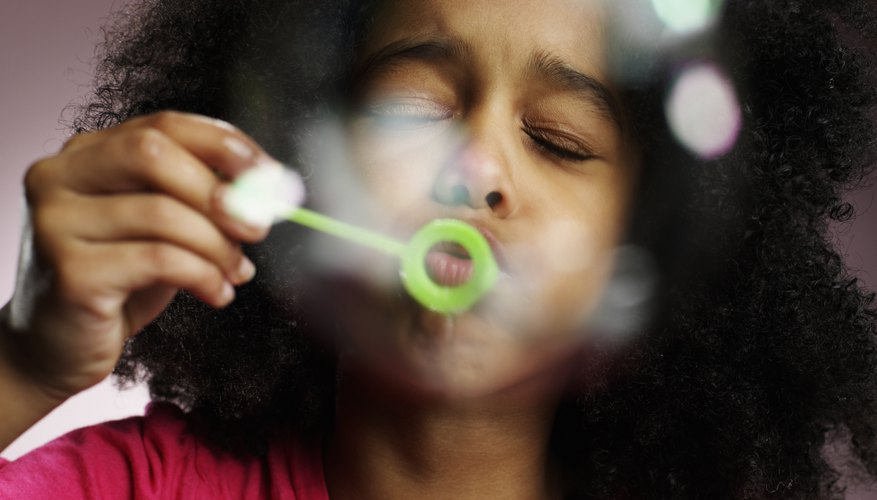 Blowing bubbles develops your child's speech musculature.