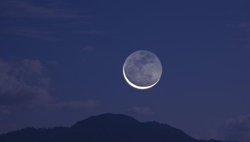 Moon shining in the sky.