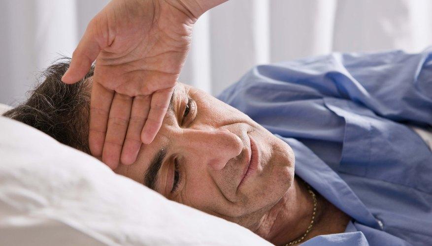 Mature man with symptoms accompanying the Shingles virus
