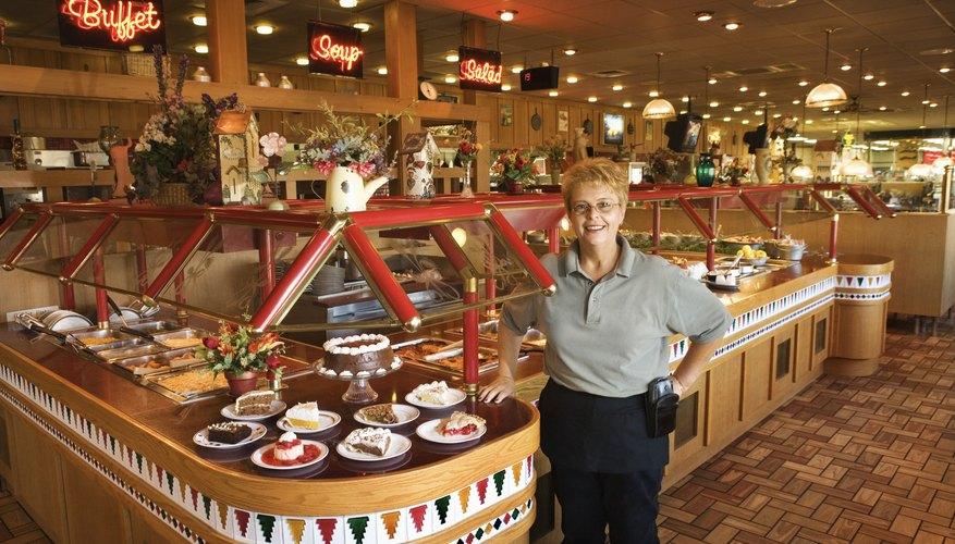 Woman posing in restaurant