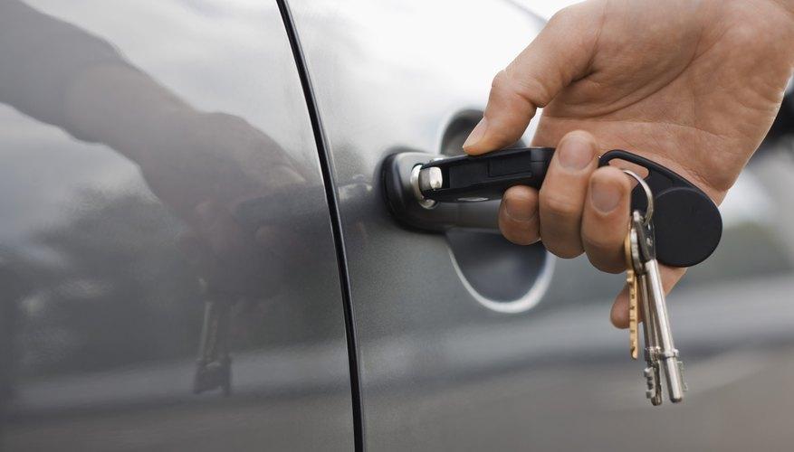 Person unlocking car door