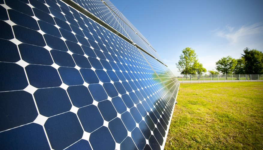 A solar panel harnesses the power of the sun.