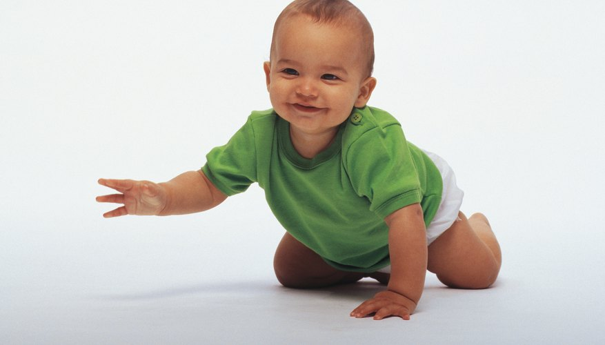 Crawling isn't always easy when babies are just starting to learn.