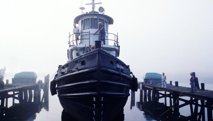 Tugboat in harbor