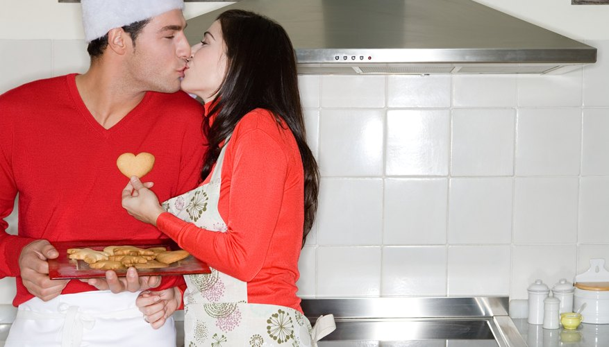 Steal a few kisses as you bake cookies together.