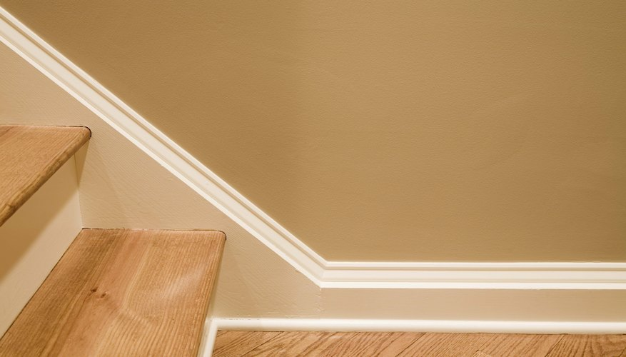 A close-up of baseboards.