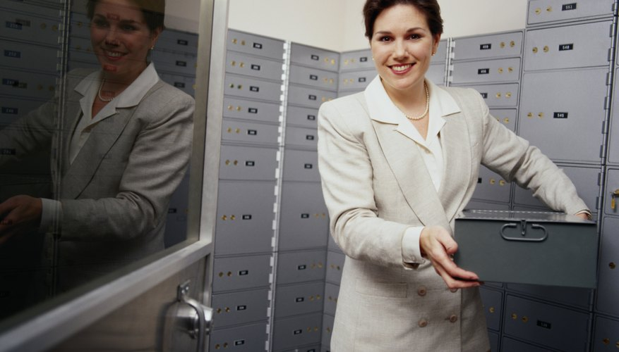 Store important documents and asssets in a safe deposit box.