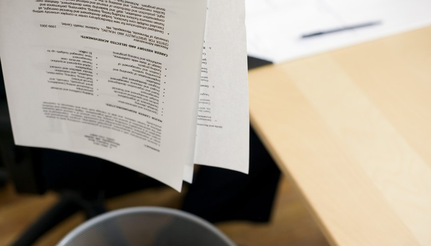 Using A Strong And Succinct Headline May Prevent Your Resume From Being  Tossed Into The Waste