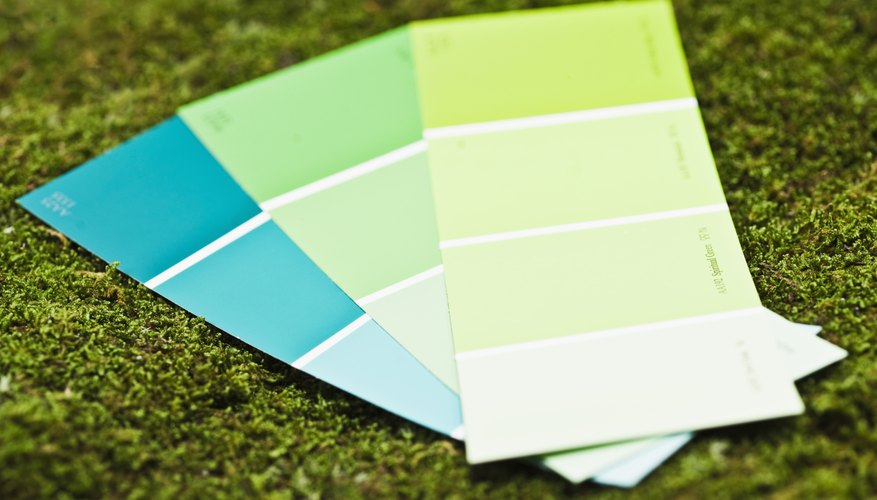 Cool paint tone swatches.