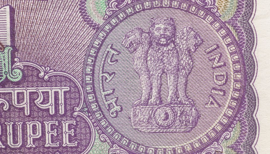 The Reserve Bank of India issues and regulates rupees as the country's form of currency.