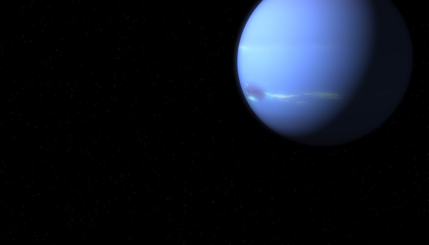 Methane in Neptune's atmosphere makes it appear blue.