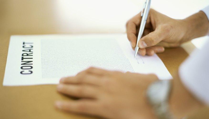 Los contratos bilaterales son los tipos más comunes de contratos utilizados.