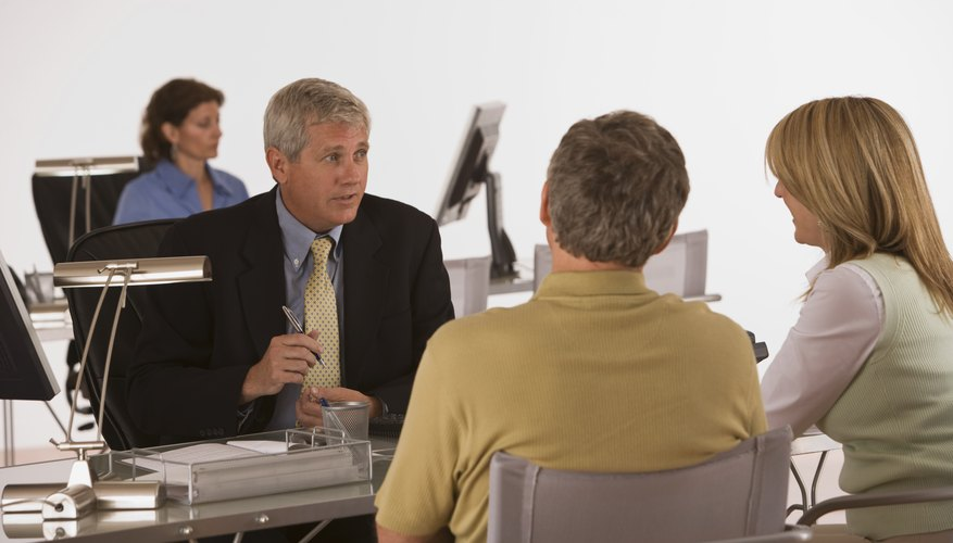 A mortgage lender will explain the different home loan options currently available.