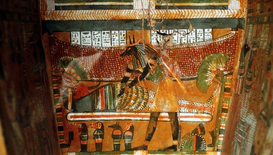 Egyptian wooden coffins could have intricate paintings.