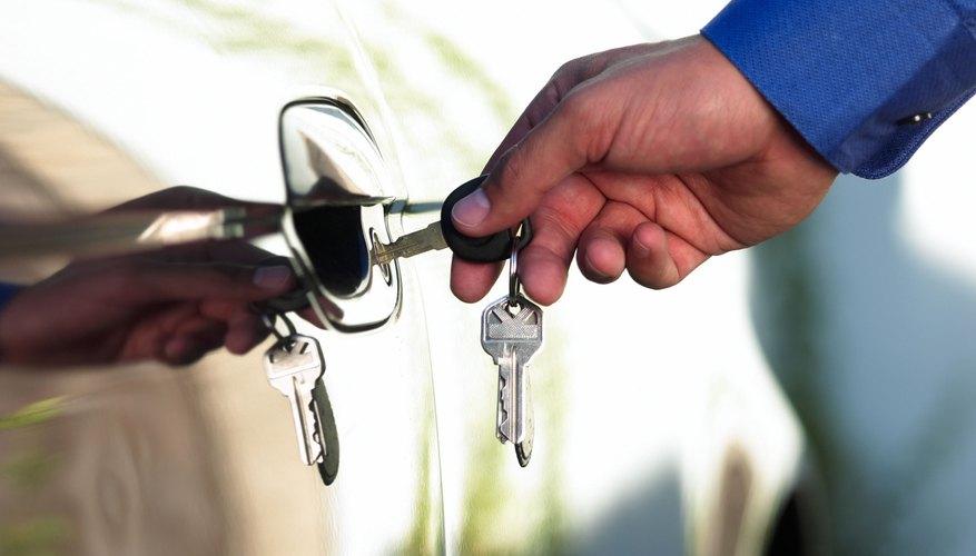 Hand unlocking car door