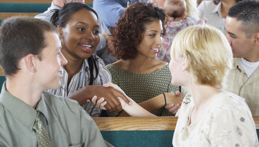 Many parishioners enjoy the social opportunities that churches provide.