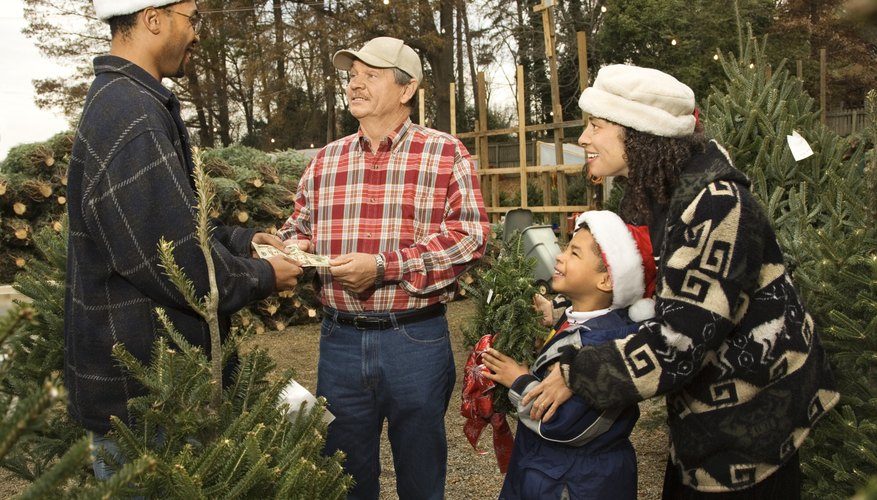 Some Christmas tree lots are operated by charitable organizations.
