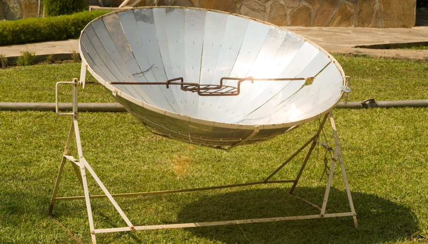 Some solar ovens resemble satellite dishes.