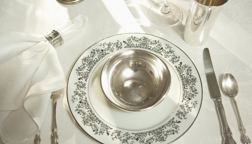 Silver plate was often used to make table settings.