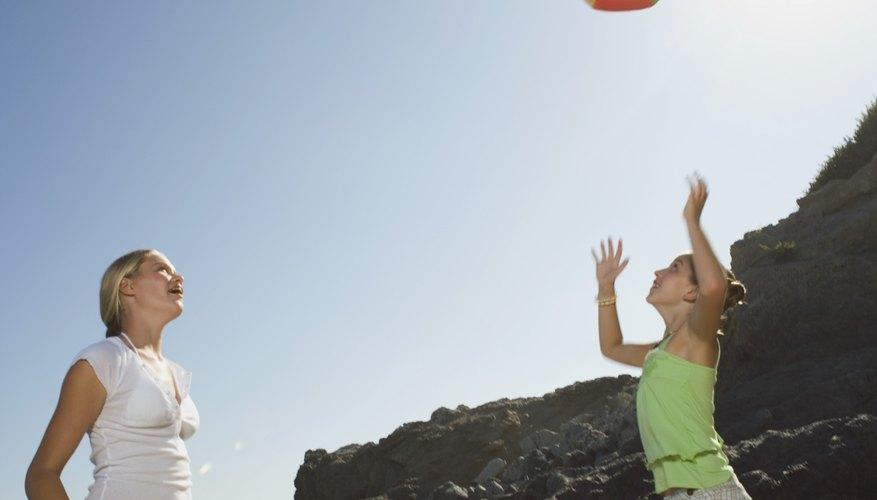A large, lightweight beach ball makes an ideal moon ball.