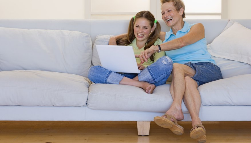 Your daughter's computer skills can improve your mom's.