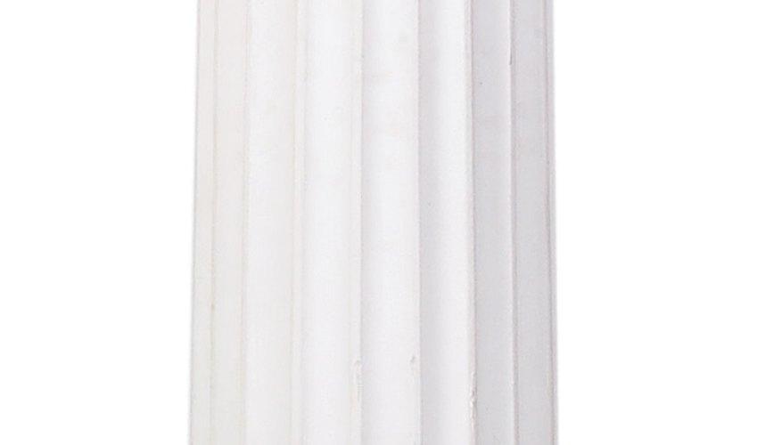 Las columnas son una parte fundamental de la decoración griega.