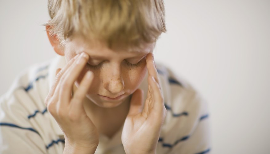 School avoidance can be accompanied by physical symptoms of discomfort.
