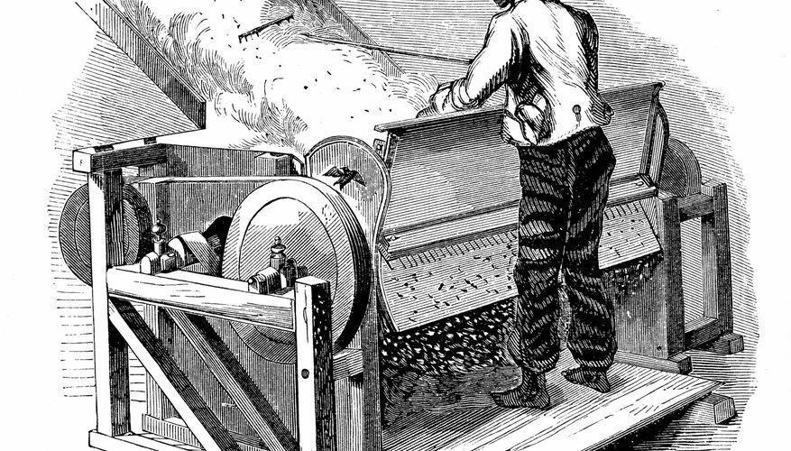 Desmotadora de algodón.