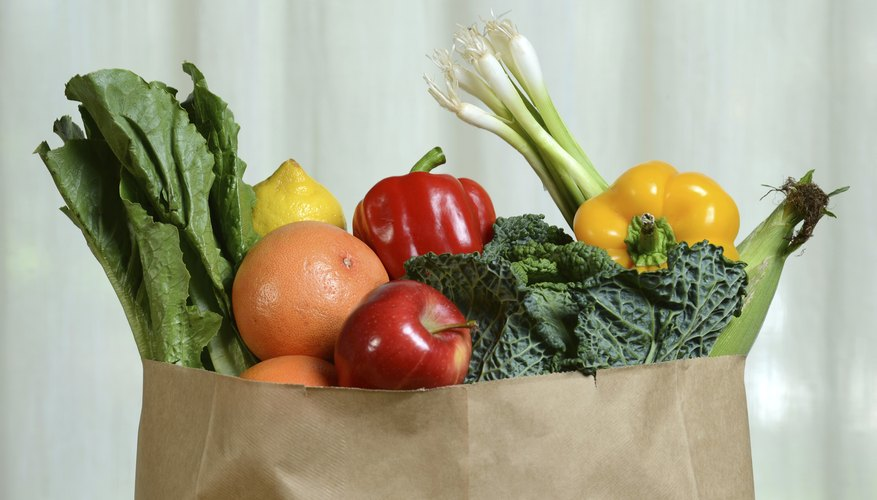 Fruits and Vegetables in Paper Bag