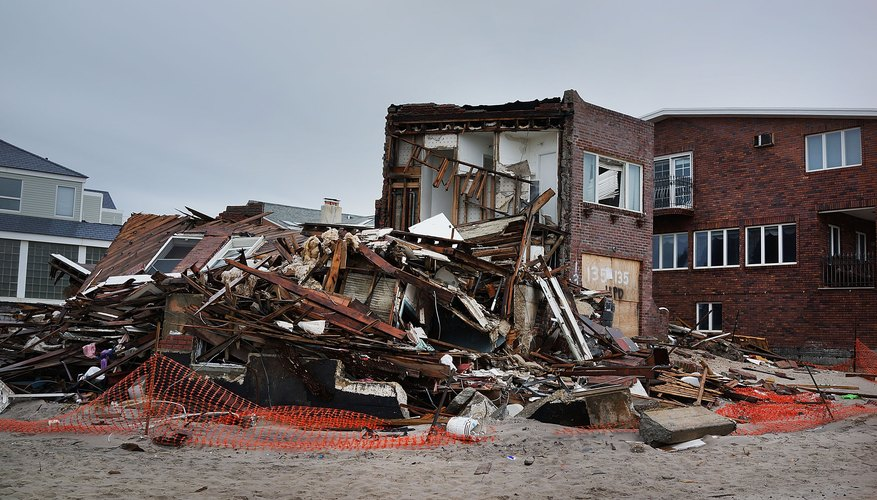 Hurricane damage is caused by a combination of wind and water..