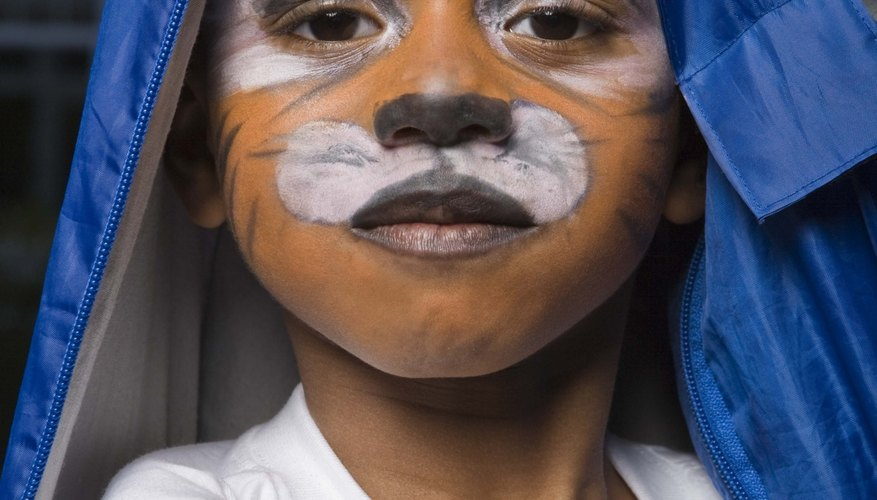 Face paint is a creative way for kids to play and learn.