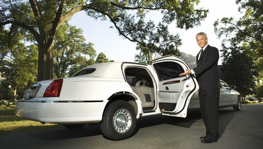 limousine chauffeur opening door