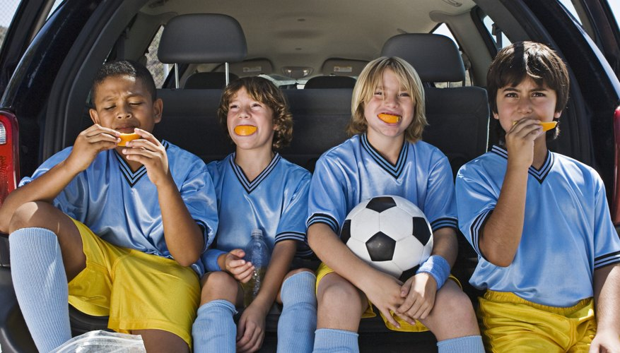 Orange slices are a time-honored soccer snack.
