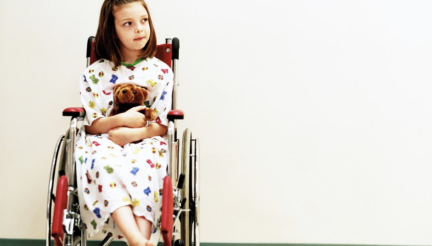 Some children with cerebral palsy are confined to a wheelchair.