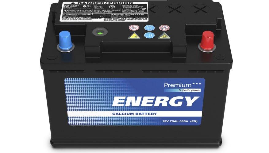Black automobile battery