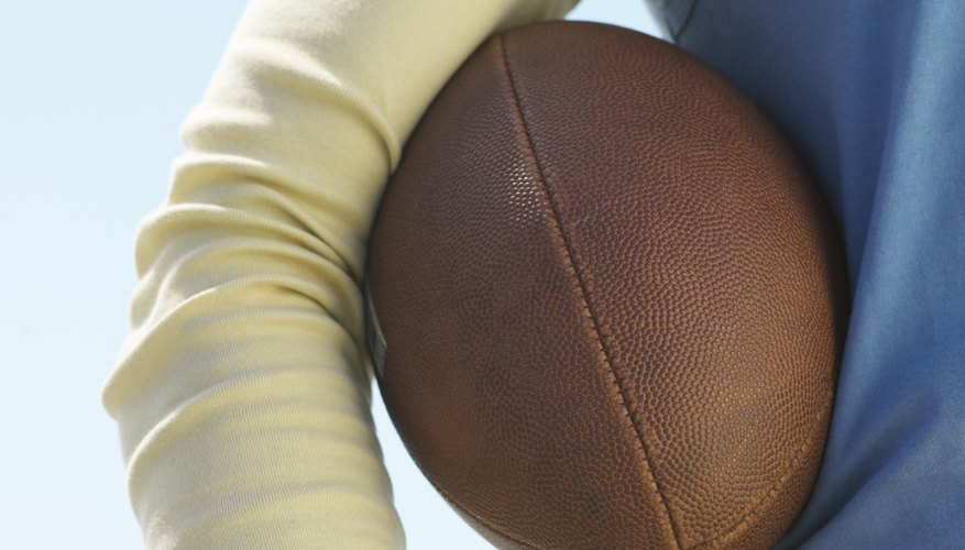 Autographed footballs require special care and technique to clean and restore them.