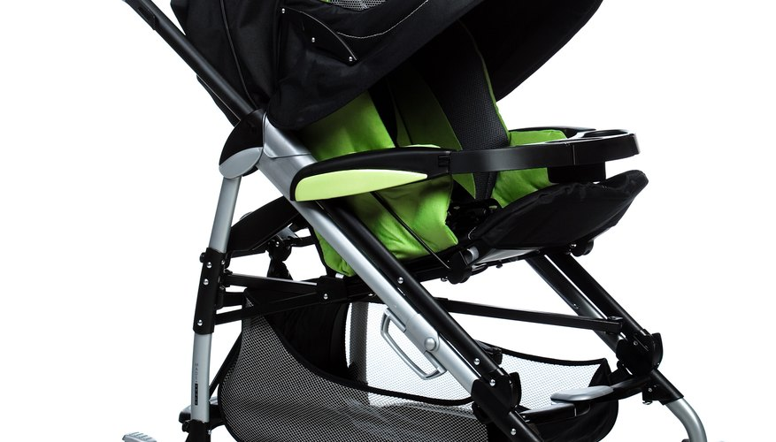 Change the wheels on a stroller that has undergone a lot of wear and tear.