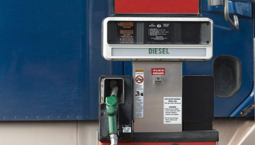 Diesel pump at truck stop
