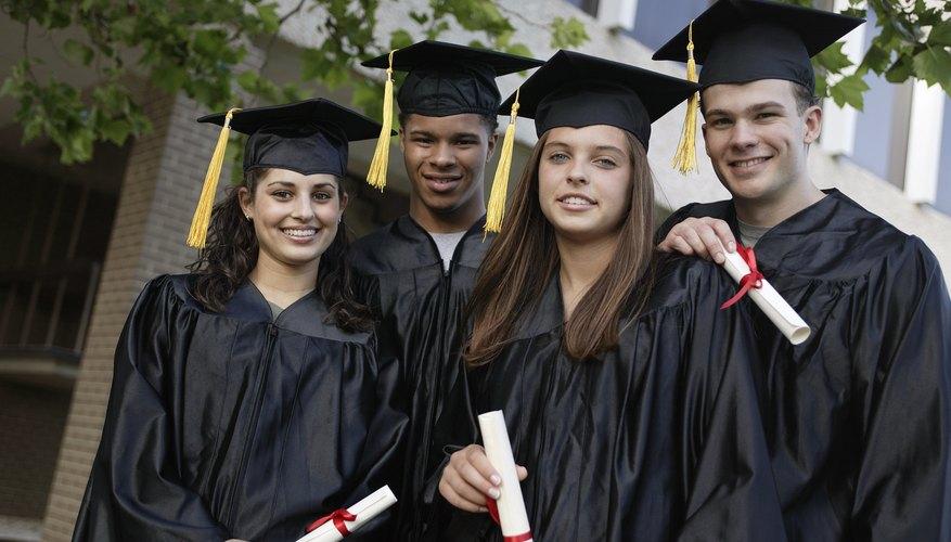 Graduados de la escuela superior.