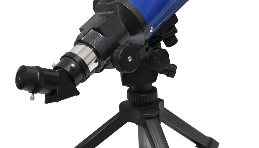 Most home telescopes are mounted on tripods for stability.